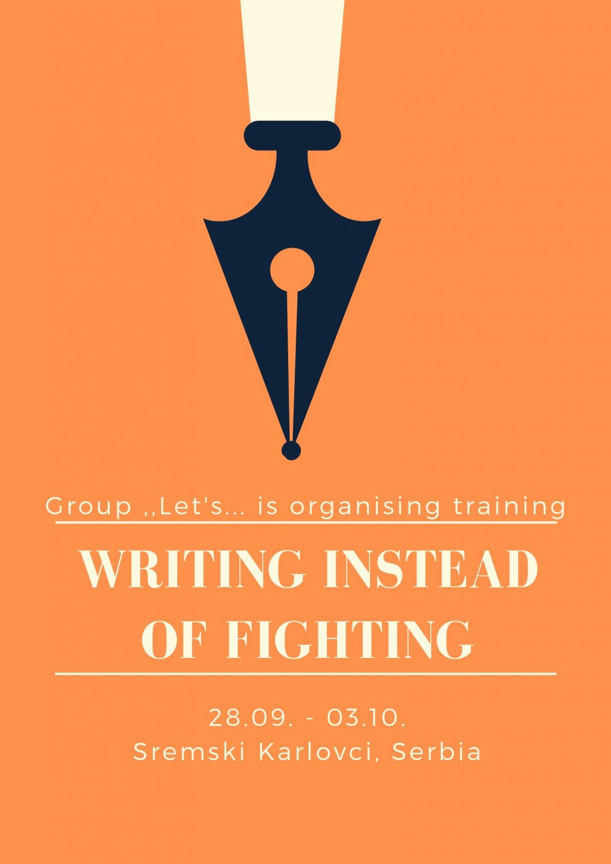 """""""WRITING INSTEAD OF FIGHTING"""""""